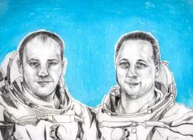 Alexandr Misurkin y Anton Shkaplerov