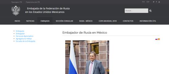 Portal Embajada de Rusia en México